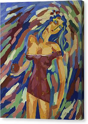 Girl With Apple, Cognition Canvas Print by Alexander Fuza