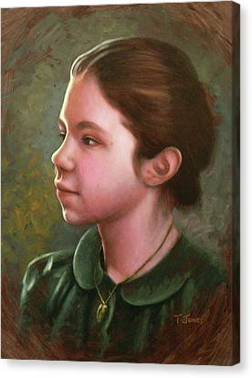 Girl With Locket Canvas Print by Timothy Jones