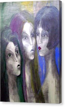 Girl Canvas Print by Wojtek Kowalski
