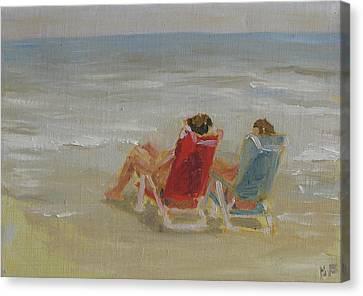 Girlfriends Canvas Print by B Fernandez