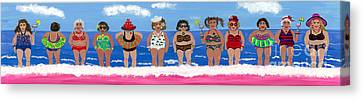 Canvas Print featuring the painting Girlfriends by Gail Finn