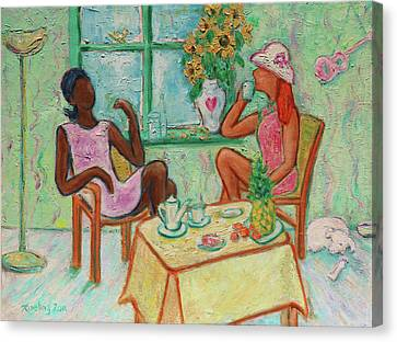 Canvas Print - Girlfriends' Teatime V by Xueling Zou