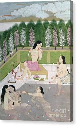 Girls Bathing Canvas Print