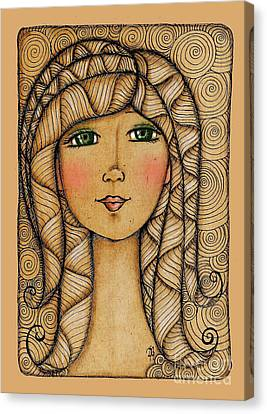 Girl's Face Canvas Print by Delein Padilla