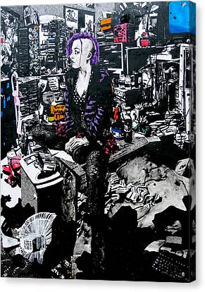 Goth Canvas Print - Girls In The Naked Girl Business Mandy by Zak Smith