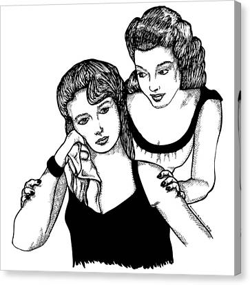 Girls Canvas Print by Karl Addison