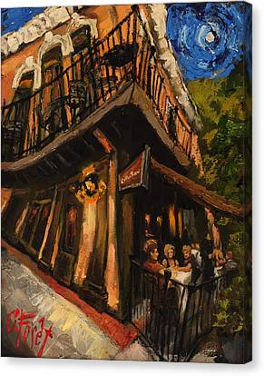 Girls Night At Cotton Row Canvas Print