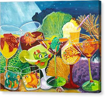 Girls Night Out At The Coral Rock Cafe Canvas Print by Linda Kegley