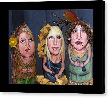 Girls Night Out Canvas Print by Cathi Doherty