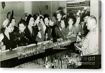 1933 Canvas Print - Girls Night Out by Jon Neidert