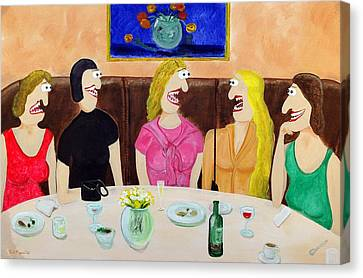 Girls Night Out Canvas Print by Sal Marino