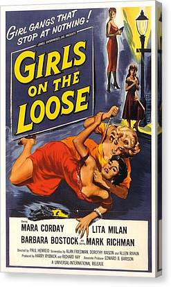 Girls On The Loose Canvas Print