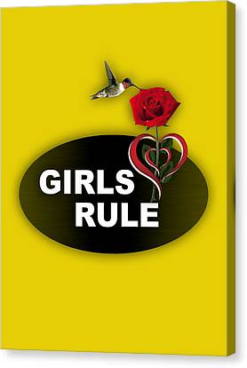Girls Rule Collection Canvas Print by Marvin Blaine