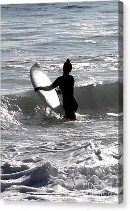 Canvas Print - Girls Surf Too San Clemente California by Linda Queally