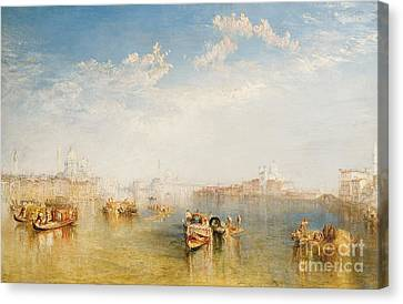 Giudecca La Donna Della Salute And San Giorgio  Canvas Print by Joseph Mallord William Turner