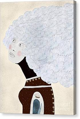 Canvas Print featuring the painting Giulia by Bri B