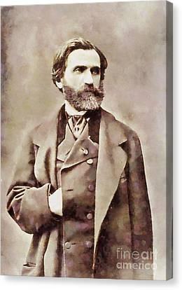 Giuseppe Verdi, Composer By Sarah Kirk Canvas Print