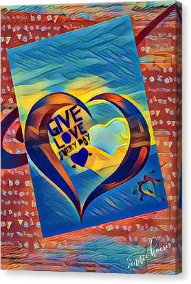 Give Love Canvas Print