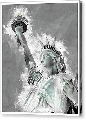 Statue Of Liberty Canvas Print - Give Me Liberty  by Melissa Smith