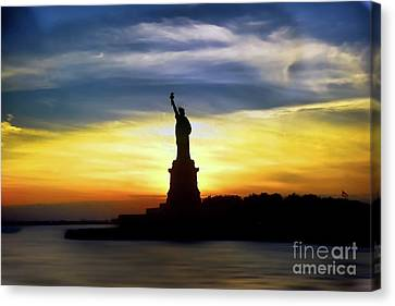 Give Me Your Tired Your Poor Your Huddled Masses Yearning To Breathe Free Canvas Print by Arnie Goldstein