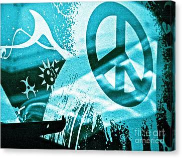 Give Peace A Shirt Canvas Print