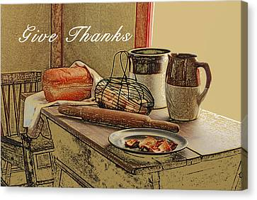 Give Thanks Canvas Print by Michael Peychich