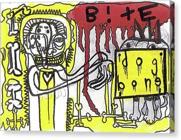 Give The Dog A Bone Canvas Print by Robert Wolverton Jr