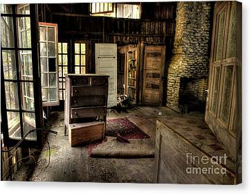 Abandoned House Canvas Print - Given Up by Michael Eingle