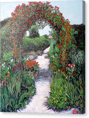 Giverney Garden Path Canvas Print by Tom Roderick