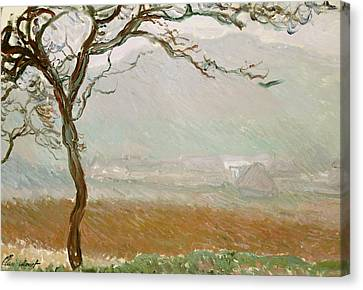 Giverny Countryside Canvas Print by Claude Monet
