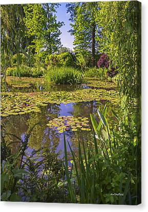 Giverny France - Claude Monet's Pond  Canvas Print by Allen Sheffield