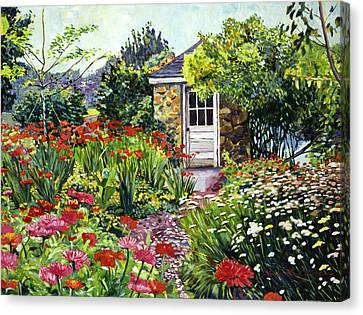 Giverny Gardeners House Canvas Print by David Lloyd Glover