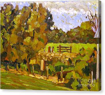 Artistic License Canvas Print - Giving The Past To Grass by Charlie Spear