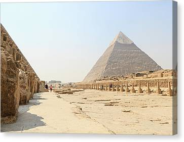 Canvas Print featuring the photograph Giza by Silvia Bruno