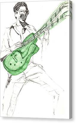 Gj Guitar  Canvas Print