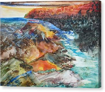 Glacial Meltdown Canvas Print by Ruth Kamenev