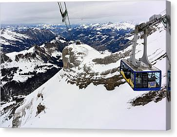 Glacier 3000 Of Les Diablerets Canvas Print by Two Small Potatoes