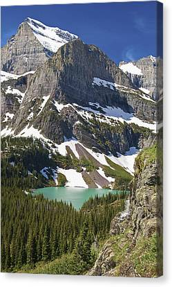 Glacier Backcountry Canvas Print by Gary Lengyel