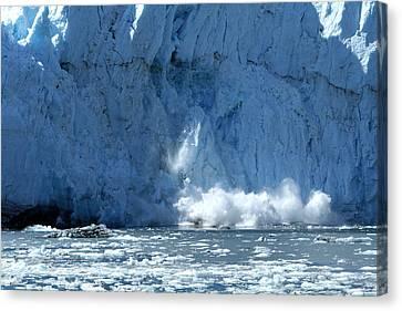 Glacier Calving Canvas Print by Dave Clark