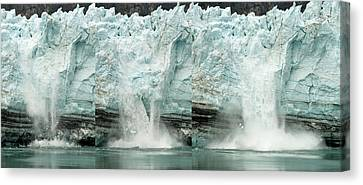 Glacier Calving Sequence 1 Canvas Print by Robert Shard
