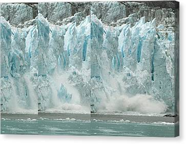 Glacier Calving Sequence 2 V2 Canvas Print by Robert Shard
