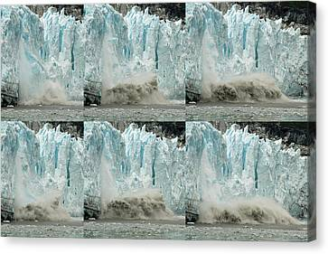 Glacier Calving Sequence 3 Canvas Print by Robert Shard