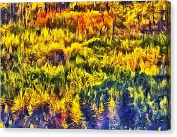 Glacier Fall Abstract Canvas Print by Mark Kiver