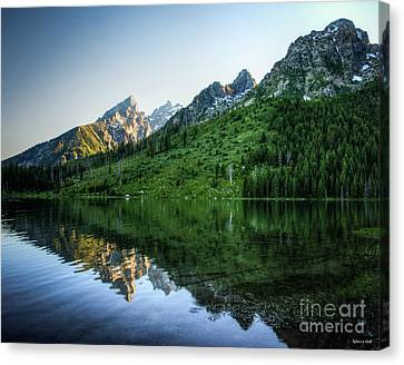 Glacier Lake Canvas Print by Rebecca Hiatt
