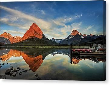 Canoe Canvas Print - Glacier Morning by Andrew Soundarajan