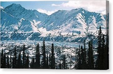 Canvas Print featuring the photograph Glacier  Mountains by Judyann Matthews