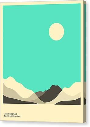 Lake Mcdonald Canvas Print - Glacier National Park, Lake Mcdonald by Jazzberry Blue