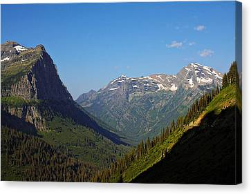 Glacier National Park Mt - View From Going To The Sun Road Canvas Print by Christine Till