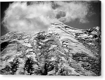 Canvas Print featuring the photograph Glacier On Mt Rainier by Lori Seaman