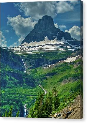 Glacier Park Valley View Canvas Print